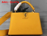 Louis Vuitton Capucines BB Handbag in Yellow Taurillon Leather Replica