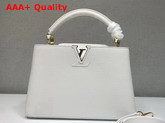 Louis Vuitton Capucines BB White Taurillon Leather M54294 Replica