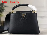 Louis Vuitton Capucines Mini Handbag Black Taurillon Leather M56071 Replica