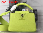 Louis Vuitton Capucines Mini Handbag Vert Chartreuse Taurillon Leather M55985 Replica