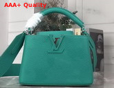 Louis Vuitton Capucines Mini Handbag in Turquoise Taurillon Leather Replica