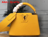 Louis Vuitton Capucines Mini Handbag in Yellow Taurillon Leather Replica