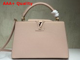 Louis Vuitton Capucines PM Pink Taurillon Leather Gold Hardware Replica