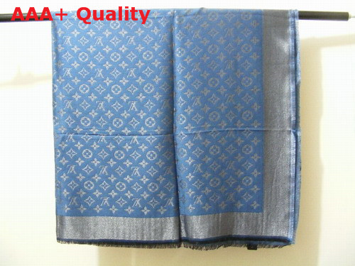 Louis Vuitton Cashmere Louis Vuitton Scarf Blue Replica