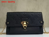 Louis Vuitton Chain Wallet Monogram Empreinte Noir M63398 Replica