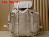 Louis Vuitton Christopher Backpack GM White Taurillon Leather M53286 Replica