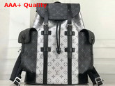 Louis Vuitton Christopher Backpack in Silver Monogram Canvas and Monogram Eclipse Canvas Replica
