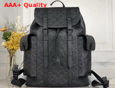 Louis Vuitton Christopher PM Backpack in Black Taurillon Cowhide Leather M55699 Replica
