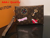 Louis Vuitton City Pouch with Printed and Embroidered Patches M63447 Replica