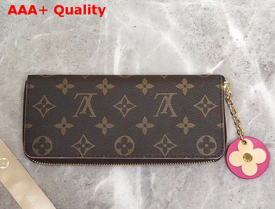Louis Vuitton Clemence Wallet Monogram Blooming Flower Special Edition M68314 Replica
