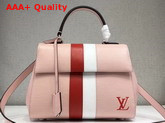 Louis Vuitton Cluny BB in Pink Epi Leather with Red and White Stripe Replica