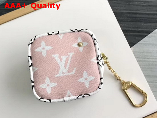 Louis Vuitton Cube Coin Purse Red Pink and White Monogram Canvas Replica