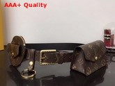 Louis Vuitton Daily Multi Pocket 30mm Belt in Monogram Canvas and Plain Calf Leather Lining M0236Y Replica