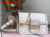 Louis Vuitton Dauphine MM White Smooth Calf Leather Replica