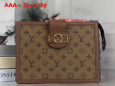 Louis Vuitton Dauphine Pochette Voyage MM Monogram Reverse Canvas Replica