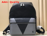Louis Vuitton Discovery Backpack Gray Monochrome Taiga Leather M30728 Replica
