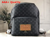 Louis Vuitton Discovery Backpack in Monogram Eclipse Canvas with an Embossed Leather Patch M45218 Replica