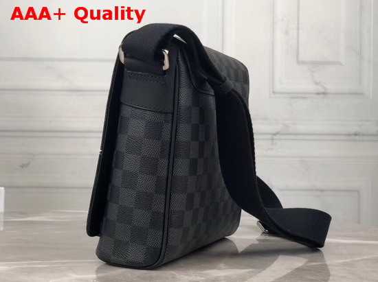 Louis Vuitton District PM Messenger Bag in Damier Graphite Canvas Overprinted with a Map of the World N40238 Replica