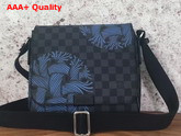 Louis Vuitton District PM in Damier Graphite Canvas Decorated with Rope Pattern N41714 Replica