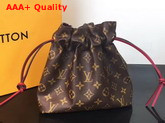 Louis Vuitton Drawstring Pouch Monogram Canvas Replica