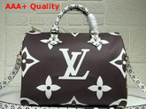 Louis Vuitton Fashion Show Speedy Bandouliere 30 Brown and White Monogram Canvas Replica