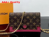 Louis Vuitton Flore Chain Wallet Lie De Vin M67404 Replica