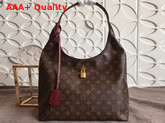 Louis Vuitton Flower Hobo Monogram Coated Canvas Bordeaux M43547 Replica