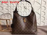 Louis Vuitton Flower Hobo Monogram Coated Canvas Noir M43545 Replica