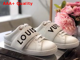 Louis Vuitton Frontrow Open Back Sneaker in White Calf Leather Replica