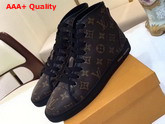 Louis Vuitton Frontrow Sneaker Boot Patent Monogram Canvas and Calf Leather Trim Replica