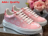 Louis Vuitton Frontrow Sneaker Pink and Red Patent Monogram Canvas Replica