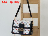 Louis Vuitton Game On Dauphine MM Handbag in White Transformed Game On Monogram Canvas M57463 Replica