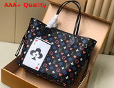 Louis Vuitton Game On Neverfull MM Tote in Black Transformed Game On Monogram Canvas M57483 Replica