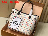Louis Vuitton Game On Neverfull MM Tote in White Transformed Game On Monogram Canvas M57462 Replica