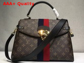 Louis Vuitton Georges MM Monogram Canvas with Navy Cherry Stripe Replica