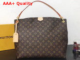 Louis Vuitton Graceful MM Hobo Monogram Coated Canvas Beige Lining M43704 Replica