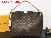 Louis Vuitton Graceful MM Hobo Monogram Coated Canvas Pivoine Lining M43703 Replica