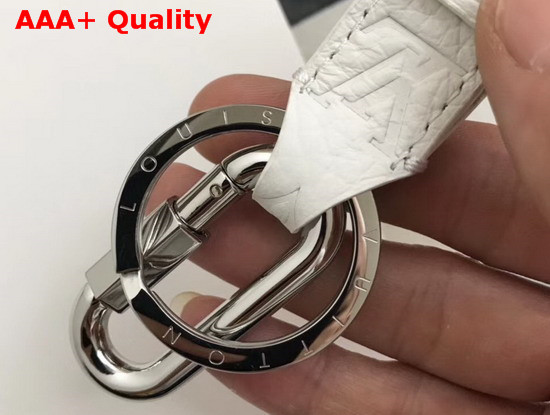 Louis Vuitton Harness Dragonne Bag Charm and Key Holder White MP2363 Replica