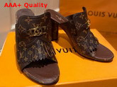 Louis Vuitton Indiana Mule Cacao Brown Patent Monogram Canvas 1A8659 Replica