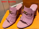 Louis Vuitton Indiana Mule in Pink Grained Calf Leather Replica