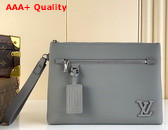 Louis Vuitton Ipad Pouch in Black Grained Calf Leather M69837 Replica