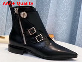 Louis Vuitton Jumble Flat Ankle Boot in Black Calf Leather 1A57AL Replica 1A57AL