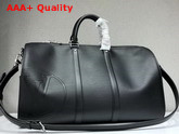 Louis Vuitton Keepall Bandouliere 45 Black Epi Leather with LV Circle Signature M53303 Replica