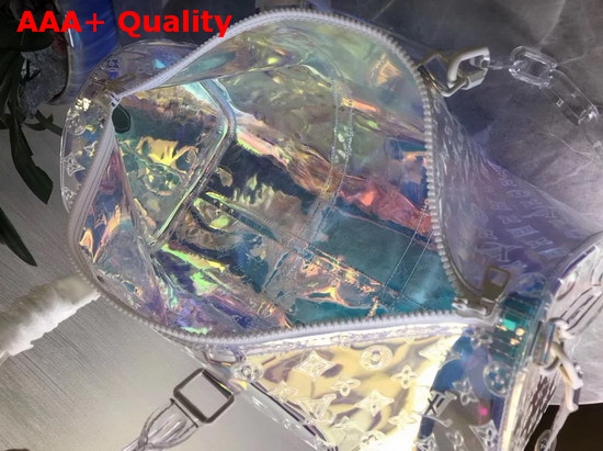 Louis Vuitton Keepall Bandouliere 50 Iridescent Prism Transparent Embossed Monogram PVC M53271 Replica M53271