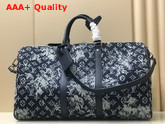 Louis Vuitton Keepall Bandouliere 50 Monogram Tapestry Coated Canvas Replica