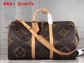 Louis Vuitton Keepall Bandouliere 50 Monogram and Monogram Reverse Coated Canvas M44739 Replica