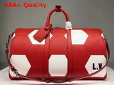 Louis Vuitton Keepall Bandouliere 50 Red Epi Leather for 2018 Fifa World Cup Replica