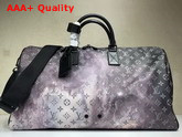 Louis Vuitton Keepall Bandouliere 50 in Printed Monogram Galaxy Canvas M44166 Replica