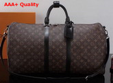 Louis Vuitton Keepall Bandouliere 55 Monogram Macassar M56714 Replica