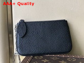 Louis Vuitton Key Pouch in Black Mahina Leather M69532 Replica